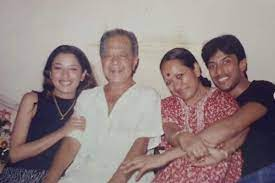Rupali Ganguly with her family