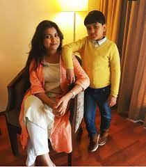 Nahid Afrin with her brother