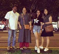 Shreya Bugde with her family