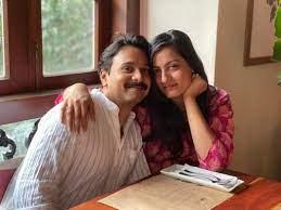 Shruti Vyas with her husband