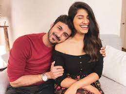Rasika Sunil with her husband