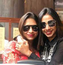 Shreya Bugde with her sister