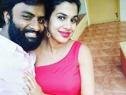 Sravana Bhargavi with her husband