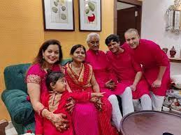 Krishna Bharadwaj with his family