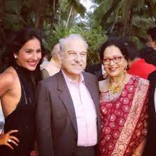 Kanchi Kaul with her parents