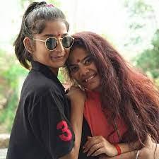 Vartika Jha with sister