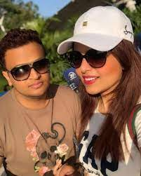 Sugandha Mishra with her brother