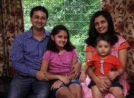 Harshita Ojha with her family