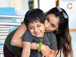 Rupali Ganguly with her son