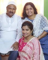 Nahid Afrin with her parents