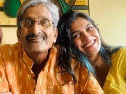 Isha Keskar with her father