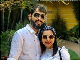 Shreya Bugde with her husband