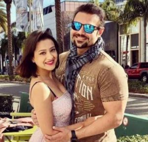 Madalsa Sharma with her husband