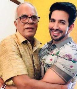 Vishal Kotian with his father