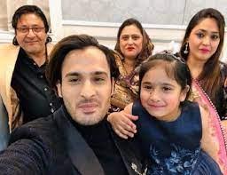 Umar Riaz with his family