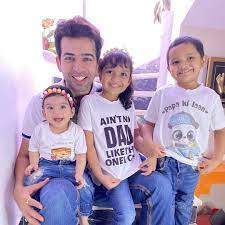 Jay Bhanushali with his children